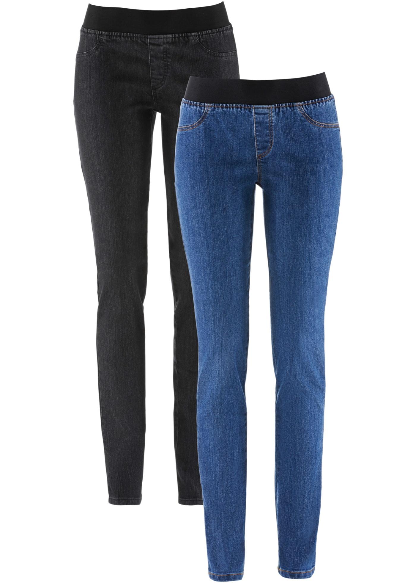 Jeansleggings, 2-pack, John Baner JEANSWEAR, blue stone/black stone