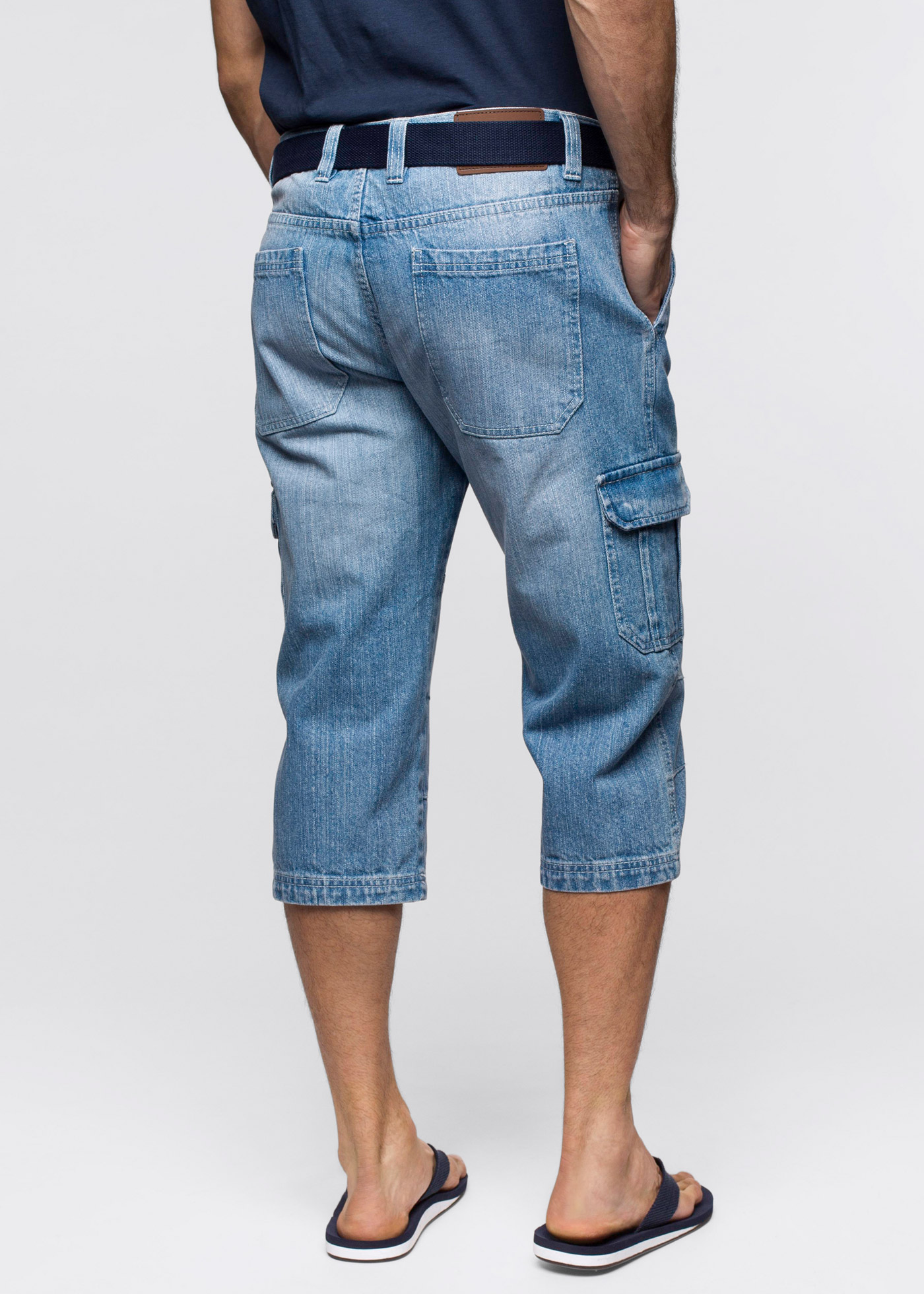 3/4-jeans, Regular Fit, John Baner JEANSWEAR, ljusblå
