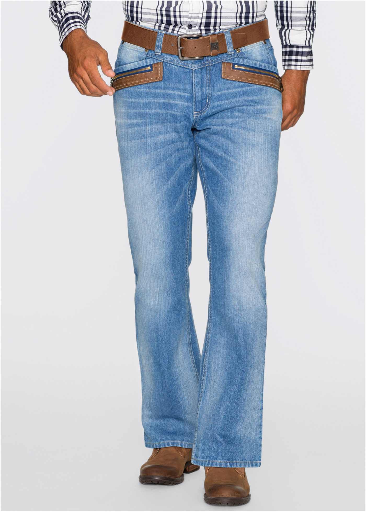Jeans regular fit bootcut, John Baner JEANSWEAR, mellanblå used
