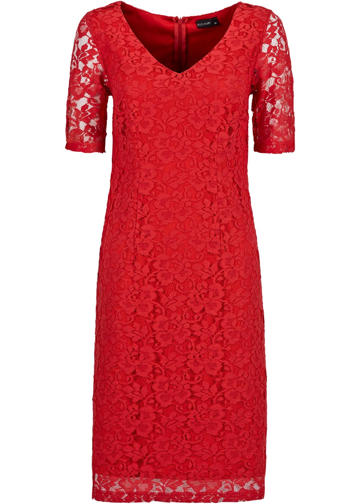 Spetsklänning, BODYFLIRT, röd
