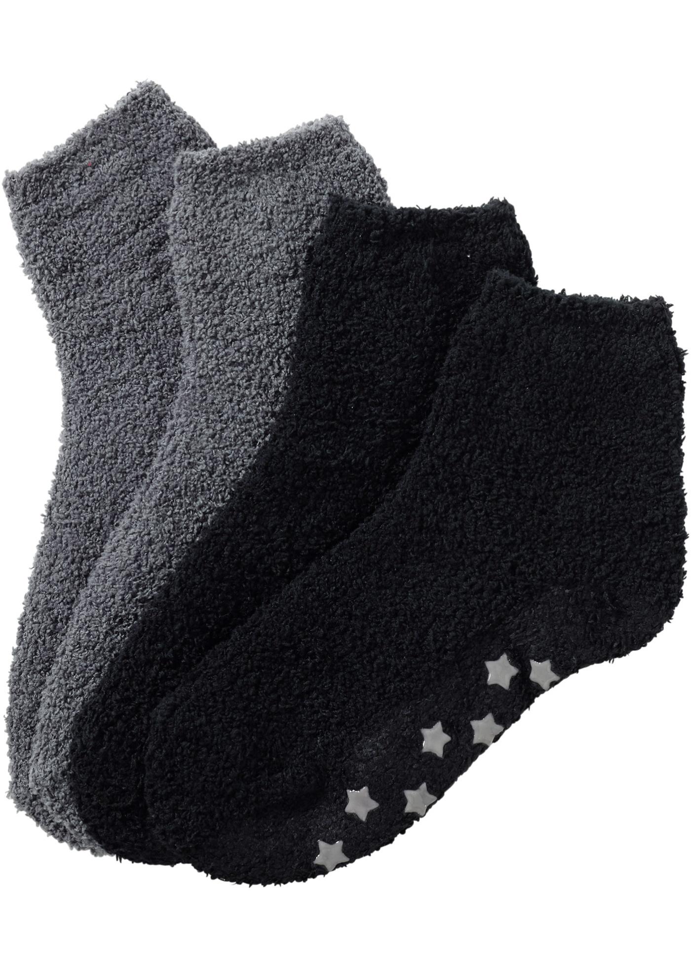 Myssockor (2-pack), bpc bonprix collection, svart/rökgrå