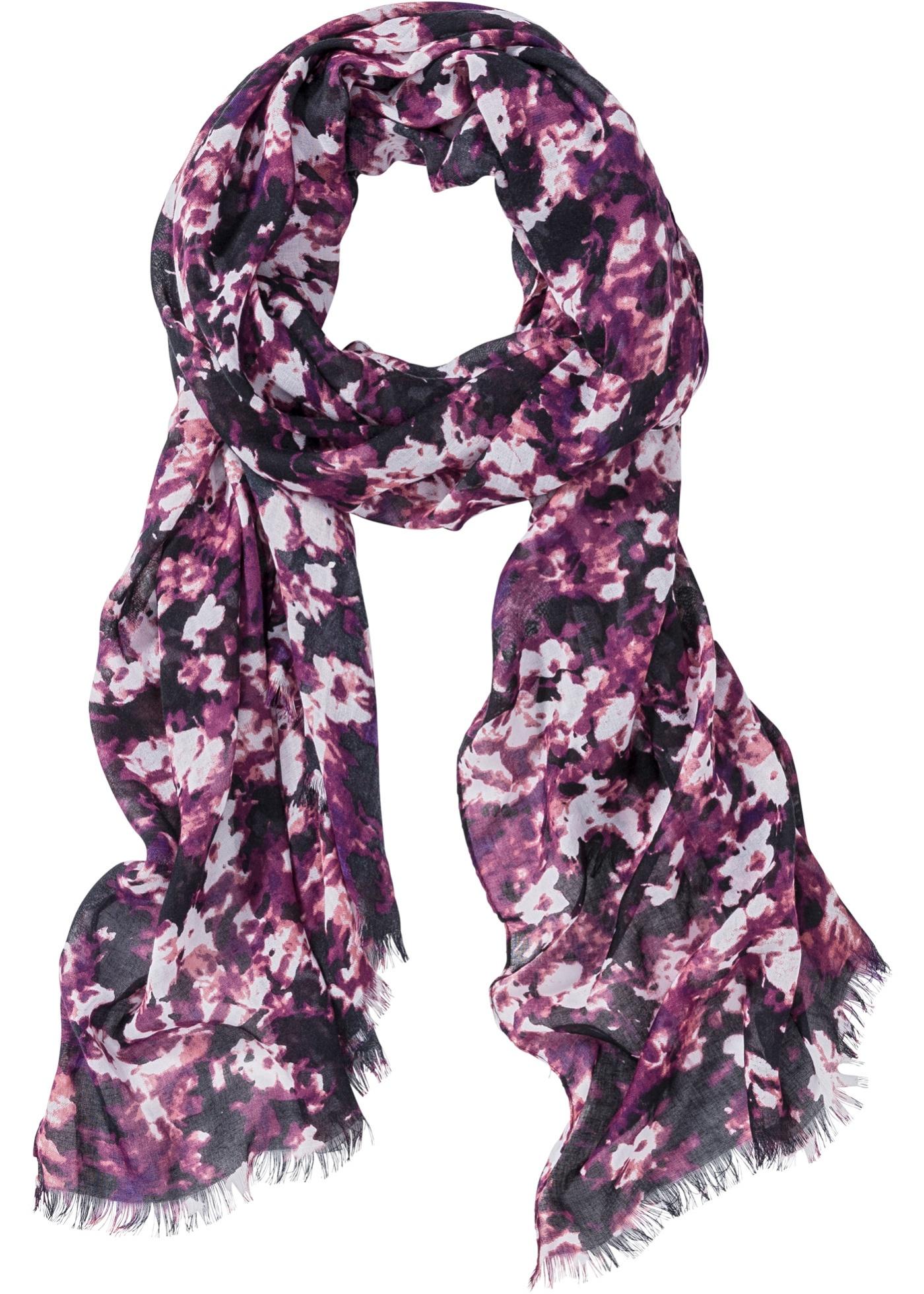 Blommig sjal, bpc bonprix collection, lila/pink