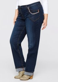 Stretchjeans, rakt ben, bpc bonprix collection, dark denim