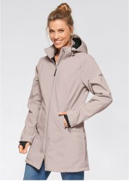 Lång funktionsjacka i softshell med teddyfleece, bpc bonprix collection, natursten