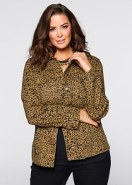 Jacka med leopardmönster, bpc selection, brown denim