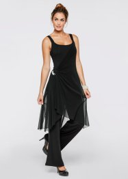 Festfin byxdress (set), bpc bonprix collection, svart