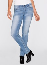 Stretchjeans, STRAIGHT, John Baner JEANSWEAR, medium blue bleached