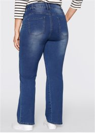Push up-jeans i powerstretch, bootcutmodell, bpc bonprix collection, blue stone used