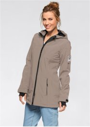 Funktionsjacka i softshell, bpc bonprix collection, gråbrun