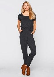 Jumpsuit i jersey, bpc bonprix collection, indigoblå, melerad