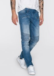 Stretchjeans slim fit, straight, RAINBOW, medium blue bleached used