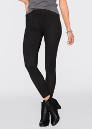 Jeansleggings i materialmix, RAINBOW, svart