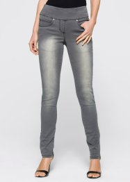 Stretchjeans med bekväm linning, bpc selection, grey denim