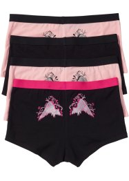 Boxertrosa (4-pack), bpc bonprix collection, svart/rosa, mönstrade