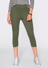 Caprileggings (2-pack), bpc bonprix collection, olivgrön/svart
