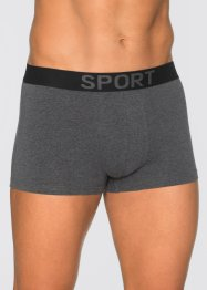 Boxershorts (3-pack), bpc bonprix collection, antracitmelerad/svart