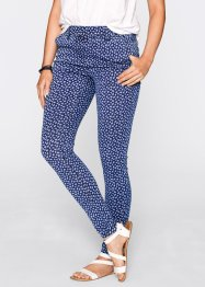 Jeansleggings - designade av Maite Kelly, bpc bonprix collection, blue stone/vit, mönstrad