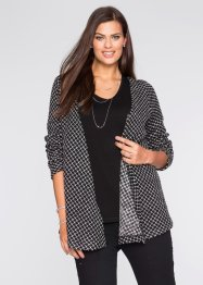 Mönstrad cardigan, BODYFLIRT, black/white