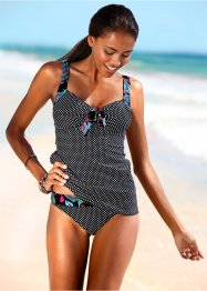 Tankini (tvådelat set), bpc bonprix collection, svart/vit