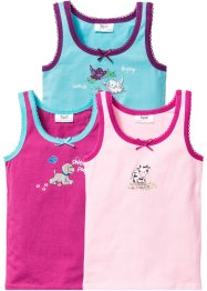 Linne (3-pack), bpc bonprix collection, rosa/pink/aqua