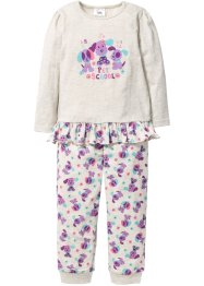 Pyjamas (2-delat set), bpc bonprix collection, naturmelerad/syren