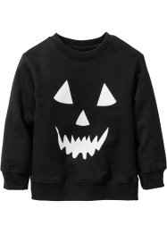 "Sweatshirt ""Glow in the Dark"", Halloween, bpc bonprix collection, svart, med tryck"