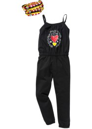 Jumpsuit + hårband (2 delar), bpc bonprix collection, svart