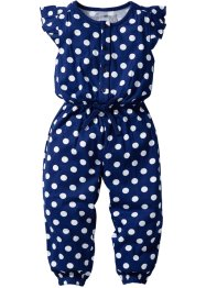Jumpsuit, bpc bonprix collection, midnattsblå/vit, prickig