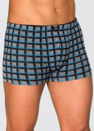 Boxershorts (3-pack), bpc bonprix collection, rutig/gråmelerad