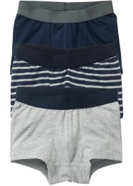 Boxershorts (3-pack), bpc bonprix collection, mörkblå/ljusgråmelerad