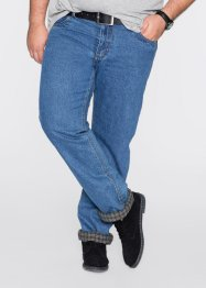 Fodrade jeans, classic fit straight, bpc bonprix collection, blå