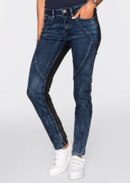 Stretchjeans, raka ben, RAINBOW, dark denim/black stone
