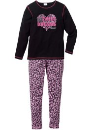 Pyjamas (2 delar), bpc bonprix collection, svart/rosa