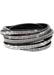 Lindat armband kedja + strass, bpc bonprix collection, svart