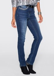 Stretchjeans med strass, bpc selection, blue stone