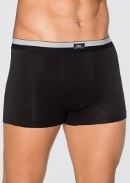 Boxershorts (3-pack), bpc bonprix collection, svart/matt silver