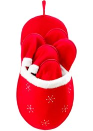 "Gästtofflor ""Santa's Shoes"" (9-delat set), bpc living, röd/vit"