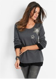 Sweatshirt, bpc selection, antracitmelerad