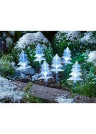 "Utomhusdekoration med LED-belysning ""Små julgranar"" (6-pack), bpc living, transparent"