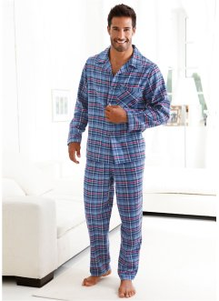 Flanellpyjamas, bpc bonprix collection, blå, rutig
