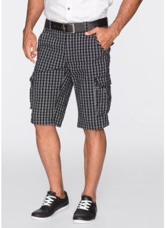 Bermudashorts, normal passform, bpc bonprix collection, svart/vit, rutig