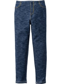 Leggings i denimlook, bpc bonprix collection, mörkblå, melerad