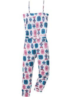 7/8-jumpsuit med etnomönster, bpc bonprix collection, benvit/turkos, mönstrad