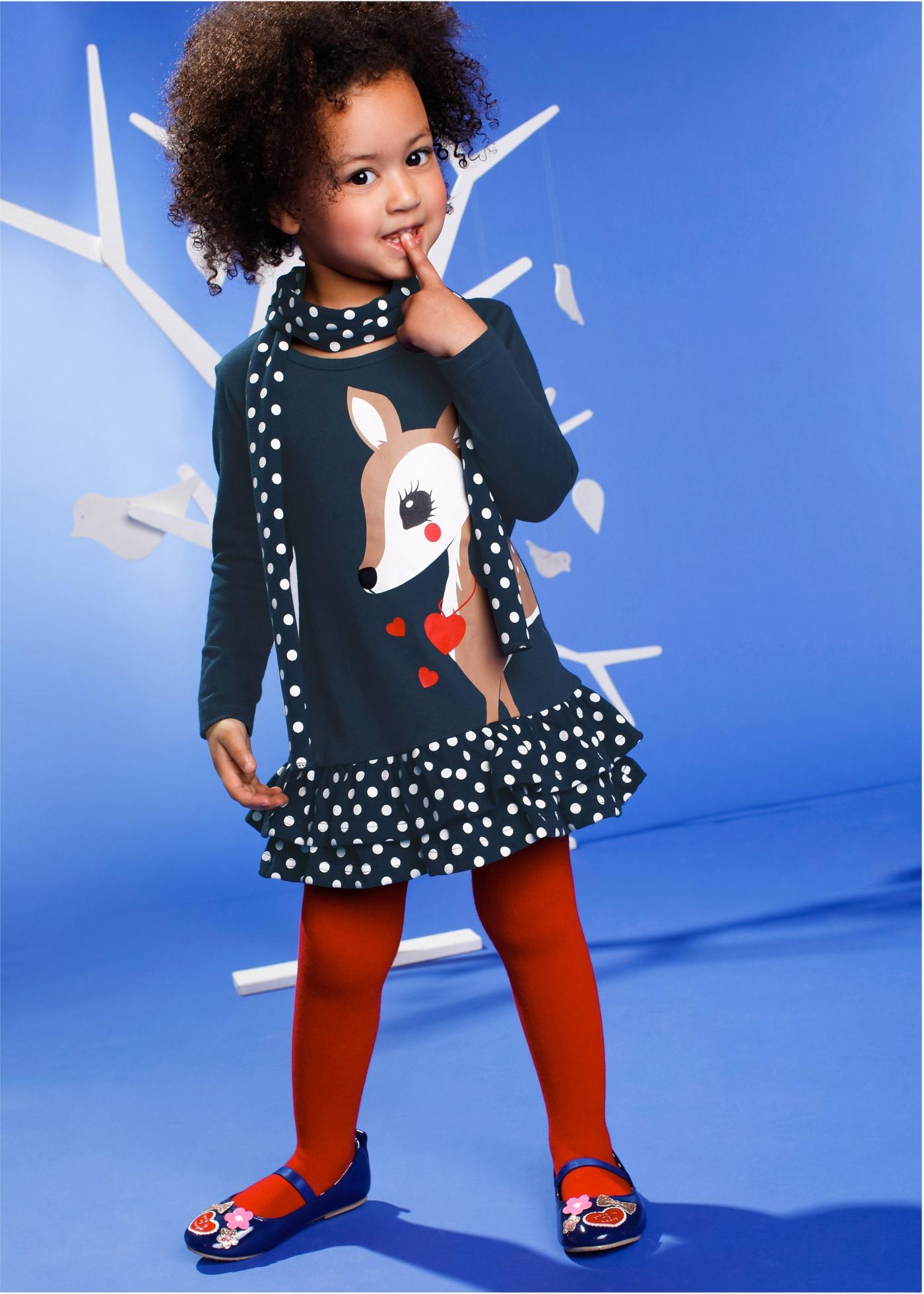 Klänning + scarf (2 delar), bpc bonprix collection, mörkblå