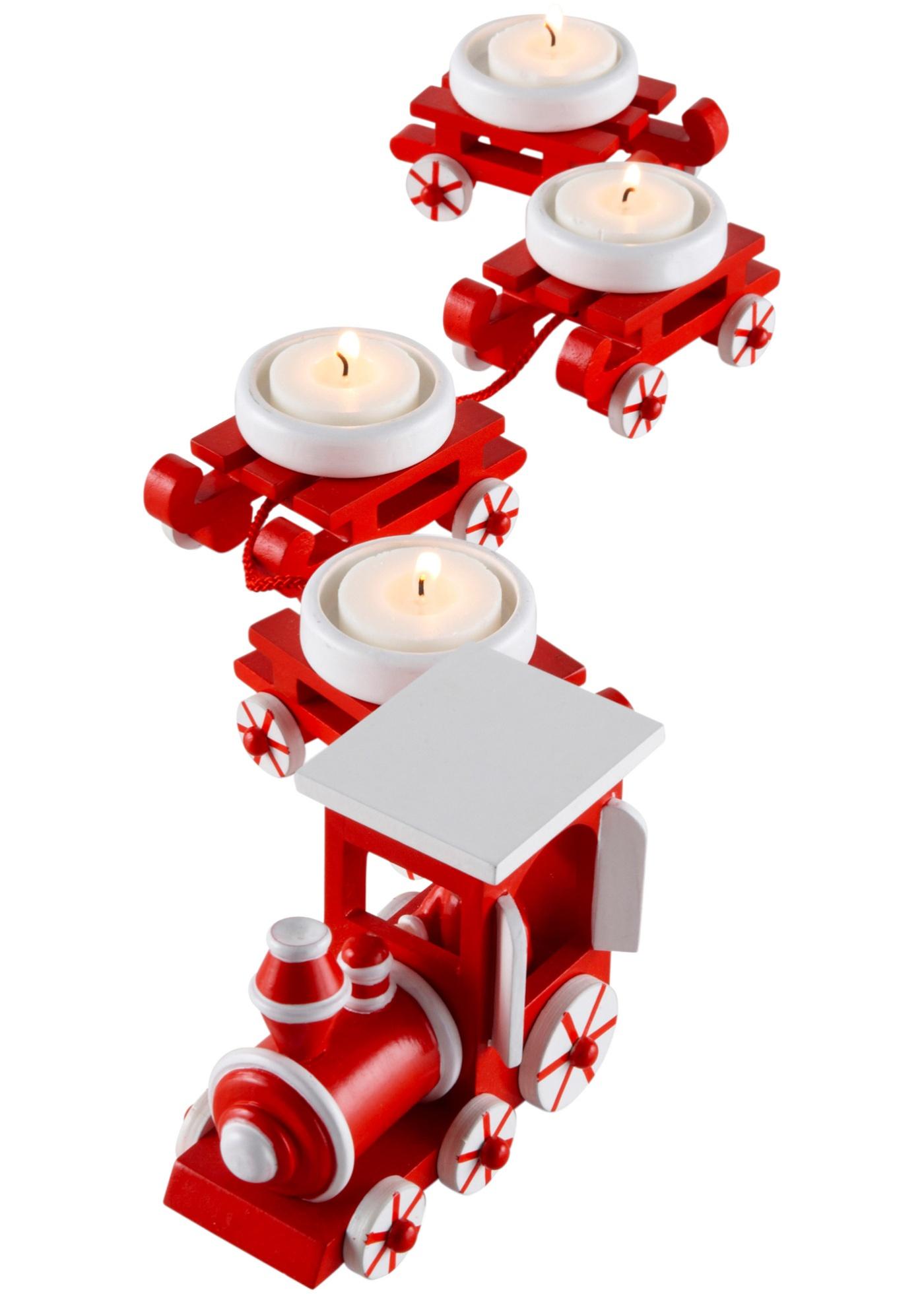 Värmeljushållare Julexpressen (5 delar)