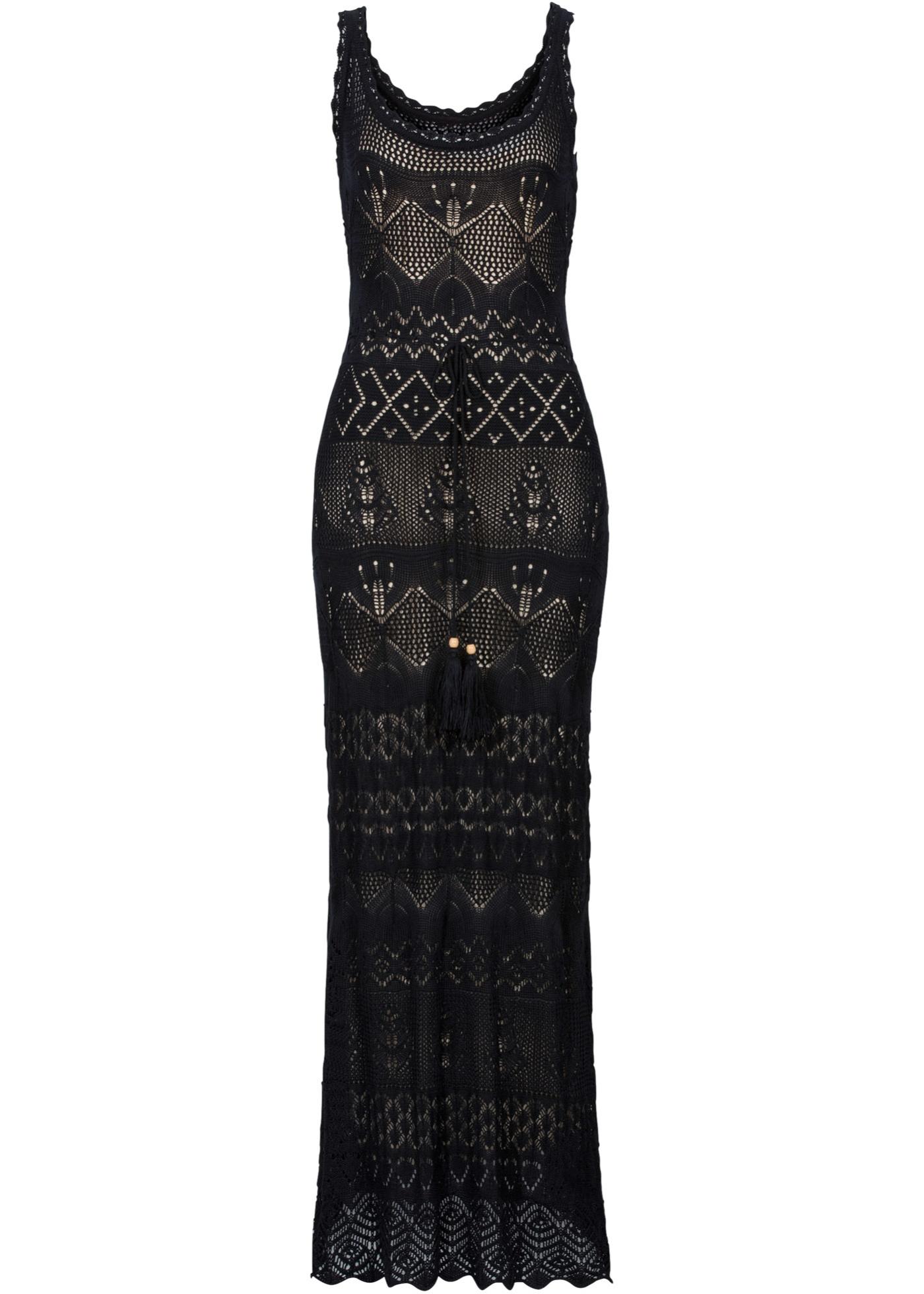 Stickad klänning