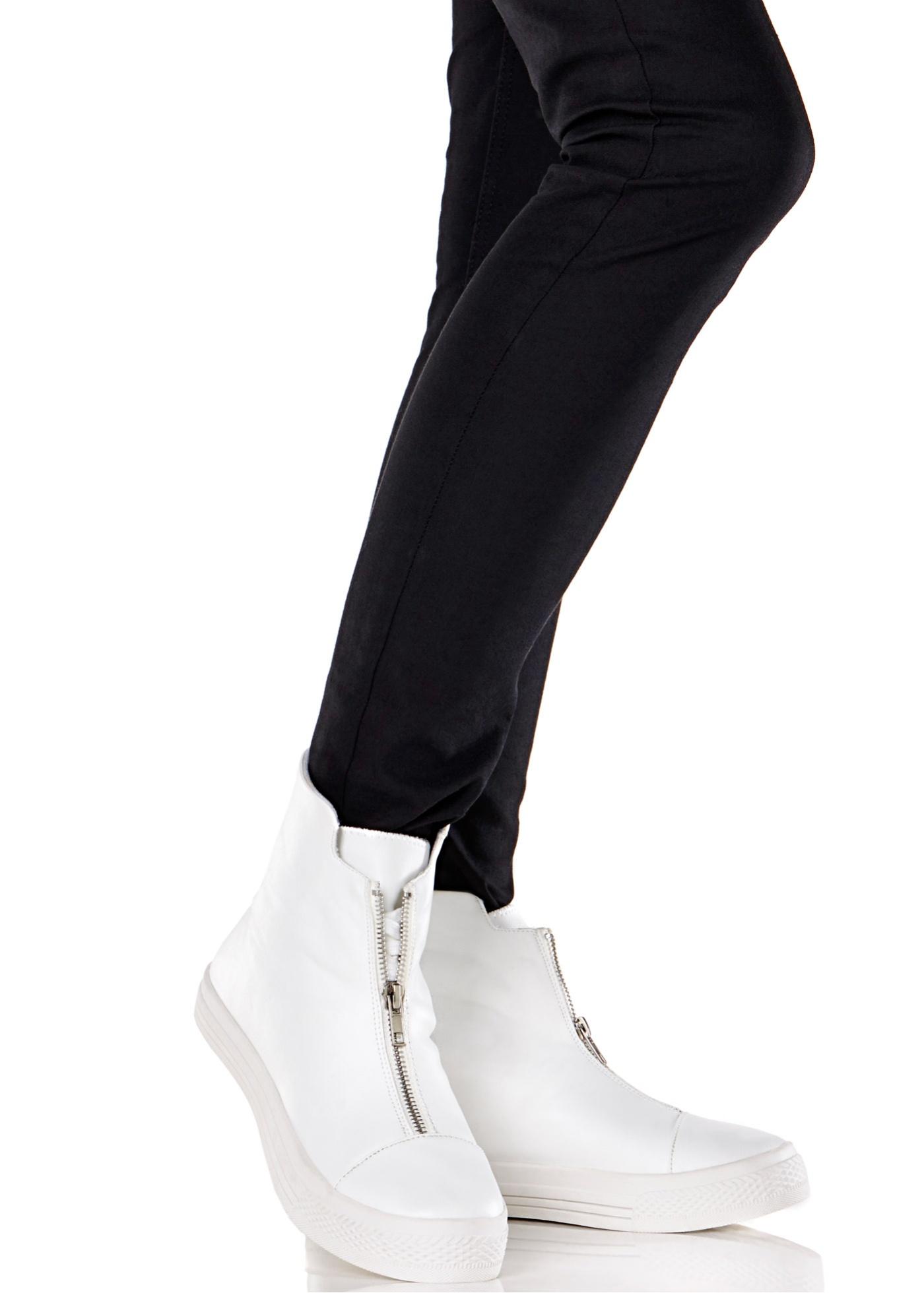 Sneakers, hög modell, RAINBOW, vit