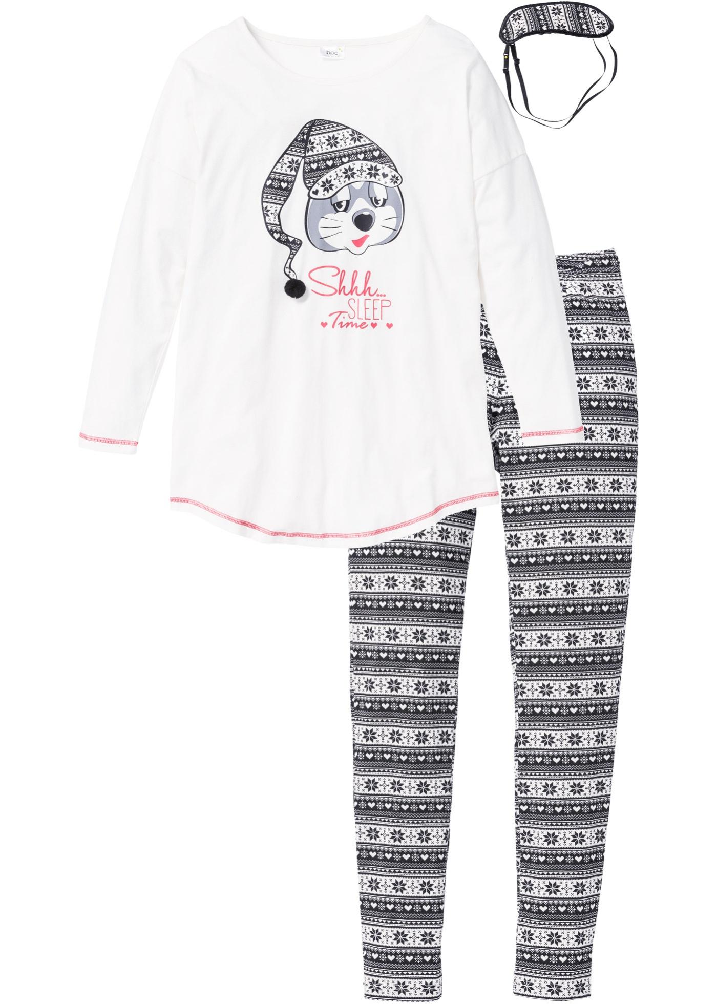 Pyjamas med sovmask