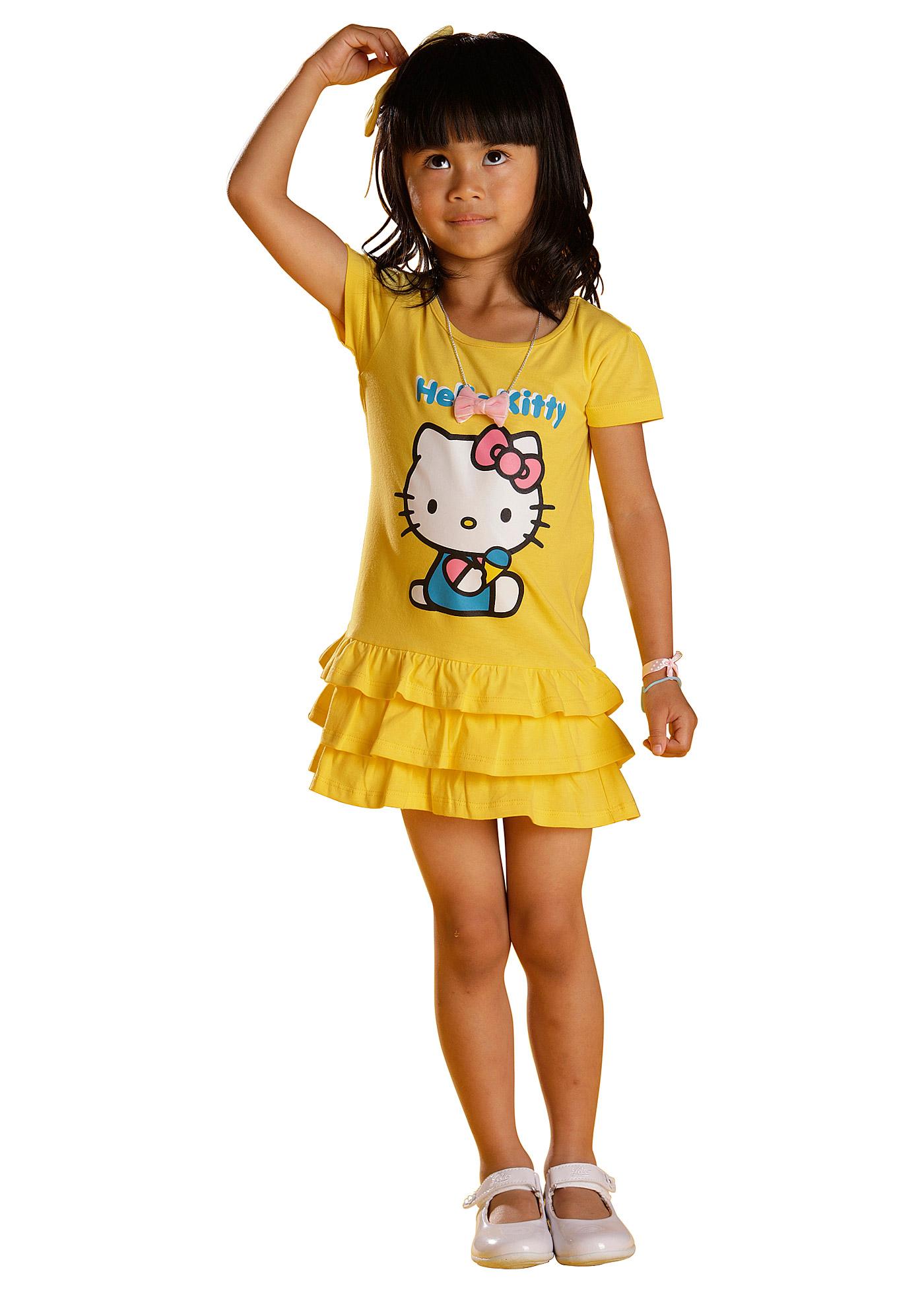Hello Kitty-klänning, pink