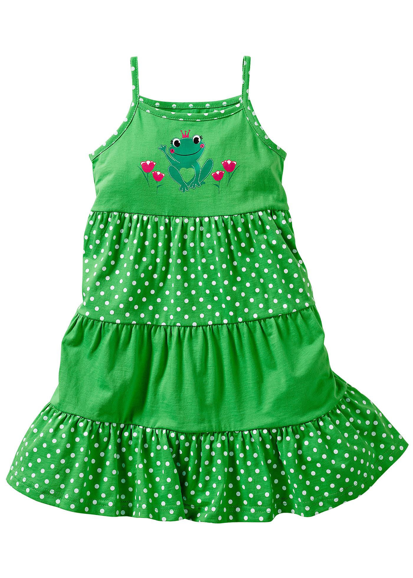 Volangklänning, bpc bonprix collection, vårgrön